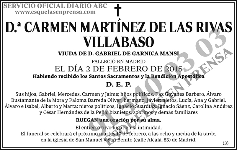 Carmen Martínez de las Rivas Villabaso